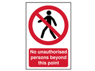 Scan SCA4053 - No Unauthorised Persons Beyond This Point - PVC 400 x 600mm