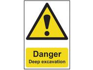 Scan SCA4103 - Danger Deep Excavation - PVC 400 x 600mm