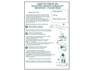 Scan SCA4240 - How To Treat An Electric Shock Casualty - PVC 400 x 600mm