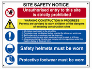 Scan SCA4550 - Composite Site Safety Notice - Fmx 800 x 600mm