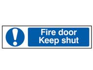 Scan SCA5004 - Fire Door Keep Shut - PVC 200 x 50mm