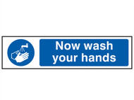 Scan SCA5014 - Now Wash Your Hands - PVC 200 x 50mm