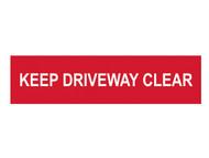 Scan SCA5252 - Keep Driveway Clear - PVC 200 x 50mm