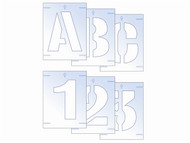 Scan SCA9403 - Letter & Number Stencil Kit 25mm