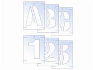 Scan SCA9404 - Letter & Number Stencil Kit 50mm