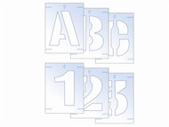 Scan SCA9406 - Letter & Number Stencil Kit 100mm