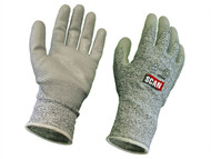 Scan SCAGLOCUT5 - Grey PU Coated, Cut 5 Liner Gloves - Large