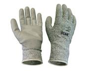 Scan SCAGLOCUT5XL - Grey PU Coated Cut 5 Liner Gloves - XL