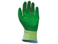 Scan SCAGLOKSPKXL - Knit Shell Latex Palm Gloves Green Pack of 12 Size 10