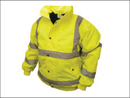 Scan SCAWWHVBJM - Hi-Vis Bomber Jacket Yellow - M (39-41in)