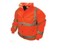 Scan SCAWWHVBJMO - Hi-Vis Bomber Jacket Orange - M (39-41in)