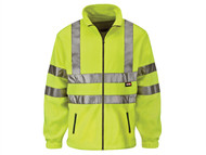 Scan SCAWWHVFXXL - Hi-Vis Yellow Full Zip Fleece - XXL