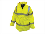 Scan SCAWWHVMJM - Hi-Vis Motorway Jacket Yellow - M (39-41in)