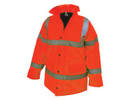 Scan SCAWWHVMJXO - Hi-Vis Motorway Jacket Orange - XL (46-48in)