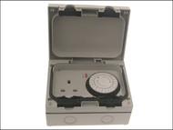 SMJ SMJE61MTB - IP66 Single Socket With 24hr Timer