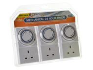 SMJ SMJMPIT3C - Basix 24h Mechanical Plug In Timer 3 Pack