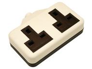 SMJ SMJRTS2GW - White Extension Socket 13A 2 Gang