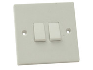 SMJ SMJW22LSC - Light Switch 2 Gang 2 Way