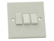 SMJ SMJW32LSC - Light Switch 3 Gang 2 Way