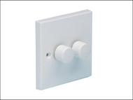 SMJ SMJWAD2GC - Dimmer Switch 400 Watt 2 Gang
