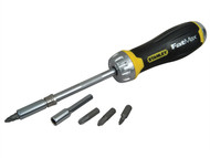Stanley Tools STA069214 - FatMax Multibit Ratchet Screwdriver & 10 Bits