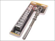 Stanley Tools STA094609 - Socket Rack of 8 Sockets + Ratchet Metric 3/8in Drive