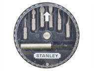 Stanley Tools STA168738 - Insert Bit Set Pozidriv/Slotted 7 Piece