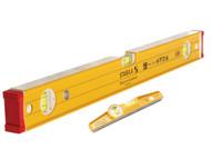 Stabila - 96-2-120 Spirit Level 120cm + 81S REM Torpedo Level 25cm