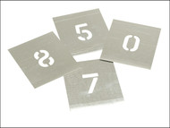 Stencils STNF1W - Set of Zinc Stencils - Figures 1.in Walleted