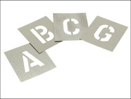 Stencils STNL1W - Set of Zinc Stencils - Letters 1in Walleted
