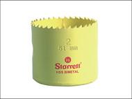 Starrett STRHS98 - SH0378 High Speed Steel Bi-Metal Holesaw 98mm