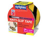 Sylglas SYLASTBLY - Anti-Slip Tape 50mm x 3m Black & Yellow