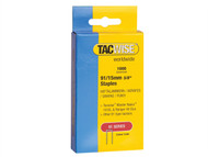 Tacwise TAC0283 - 91 Narrow Crown Staples 15mm - Electric Tackers Pack 1000