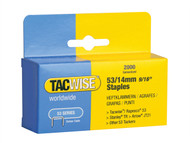 Tacwise TAC0338 - 53 Light-Duty Staples 14mm (Type JT21, A) Pack 2000