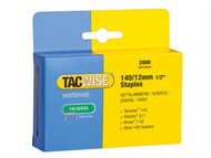 Tacwise TAC0348 - 140 Heavy-Duty Staples 12mm (Type T50, G) Pack 2000