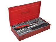 Teng TENTT3819 - TT3819 19 Piece Reg Metric Socket Set 3/8in Drive