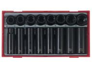 Teng TENTT9116 - TT9116 16 Piece Regular/ Deep Impact Socket Set 1/2in Drive