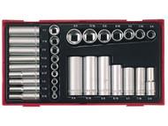 Teng TENTTAF32 - TTAF32 32 Piece Reg/ Deep Socket Set 1/4-3/8in Drive