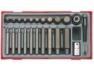Teng TENTTHEX23 - TTHEX23 23 Piece Metric Hex Bit Socket Set