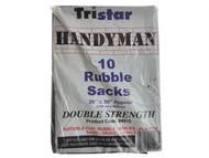 Tristar TRIBS10BK - Heavy-Duty Black Rubble Sacks (10) 20 x 30in