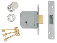 UNION UNNV3G114B67 - 3G114E 5 Lever Mortice Deadlock C-Series 67mm 2.5in Satin Brass