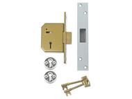 UNION UNNV3G115C67 - 3G115 C Series 5 Lever Deadlock 67mm 2.5in Satin Chrome