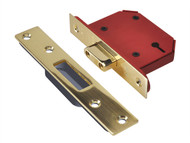 UNION UNNY2103PB30 - StrongBOLT 2103S 3 Lever Mortice Deadlock Polished Brass 81mm 3in Visi