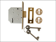 UNION UNNY2177PL25 - 2177 3 Lever Mortice Deadlock Polished Brass 65mm 2.5in Visi