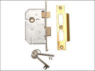 UNION UNNY2277PL25 - 2277 3 Lever Mortice Sashlock Polished Brass 65mm 2.5in Visi