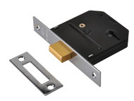 UNION UNNYESDLPB30 - ES-DL Essentials 3 Lever Mortice Deadlock Polished Brass 79mm 3in Visi