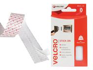 VELCRO Brand VEL60210 - VELCRO Brand Stick On Tape 20mm x 1m White