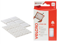 VELCRO Brand VEL60235 - VELCRO Brand Stick On Squares 25mm White Pack of 24