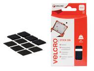 VELCRO Brand VEL60236 - VELCRO Brand Stick On Squares 25mm Black Pack of 24