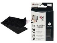 VELCRO Brand VEL60239 - VELCRO Brand Heavy-Duty Stick On Strips (2) 50 x100mm Black
